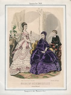 Casey Fashion Plates Detail | Los Angeles Public Library Magasin des Demoiselles Date:  Sunday, November 1, 1868