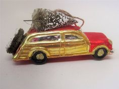 Woody Station Wagon Car Retro Gl Christmas Ornament Bottlebrush Tree Nwt Red Woodystationwagon Ornaments