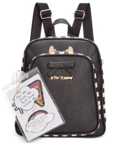 cb98b4b950 Betsey Johnson Mini Backpack with Patches Handbags   Accessories - Macy s