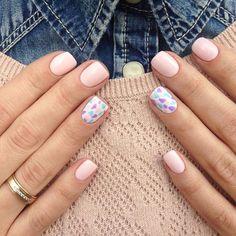 Nail art Christmas - the festive spirit on the nails. Over 70 creative ideas and tutorials - My Nails Nail Design Stiletto, Nail Design Glitter, Nails Design, Stylish Nails, Trendy Nails, Acrylic Nail Designs, Nail Art Designs, Acrylic Nails, Pastel Nails