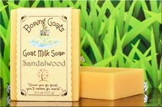 """""""Sandalwood"""" Goat Milk Soap - Mild, Manley, Moisturizing... in other words... """"MMM"""".... (sorry... had to do that). Note: Not to be confused with """"Birkenstock-birch"""" or """"Flip-flop-fir""""."""