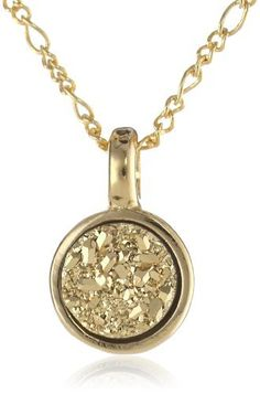 "Marcia Moran ""Glamour"" 18k Gold-Plated Druzy Small Circle Pendant Necklace, 16"" Marcia Moran,http://www.amazon.com/dp/B007R202L6/ref=cm_sw_r_pi_dp_FKlVrb44DEB14F8C"