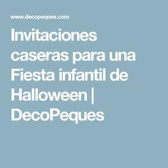 Invitaciones caseras para una Fiesta infantil de Halloween | DecoPeques