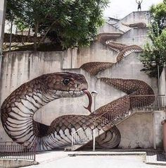 """The next level! Amazing Street art in Guarda, Portugal Artist: Sfhir"" 3d Street Art, Street Art Banksy, Amazing Street Art, Amazing Art, Best Street Art, Amazing Things, Awesome, Beautiful Things, Photographie Street Art"