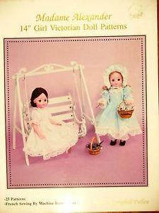 """Madame Alexander 14"""" Girl Victorian Doll patterns - Martha C Pullen -25 Patterns"""