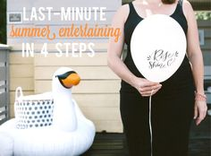 If you want to plan a party but never seem to be able to plan ahead, don't fret. I have you covered with some tips that can help you create a fabulous shin dig in less than 2 weeks.    Summer entertaining | Charleston Party | summer party | last-minute party planning | outdoor entertaining | swan float decor