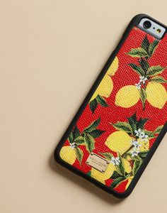 Iphone 6 plus cover with printed dauphine calfskin detail | dolce&gabbana online store