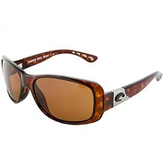 abf96ae78b Amazon.com  Costa Del Mar Tippet Polarized Sunglasses - Costa 580  Polycarbonate Lens - Women s Tortoise Amber