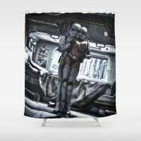Sexy Sci-Fi 4 Shower Curtain