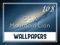 OS X Mountain Lion Default Wallpapers Mac Os, Os X Mountain Lion, Lion Wallpaper, Desktop Wallpapers, Backgrounds, Desktop Backgrounds, Backdrops, Wallpapers