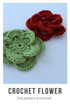 a4c45f3d949 crochet flower pattern Crochet Puff Flower, Crochet Flower Patterns, Lace  Patterns, Crochet Motif
