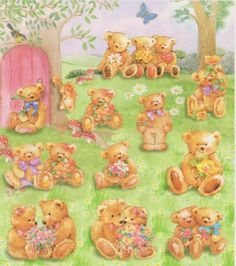 Teddy Bears Sticker sheet by Sticker King