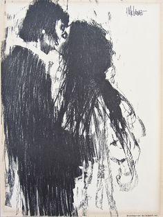 Aldo Luongo, Lover's series, (lithograph), copyright 1970, Ira Roberts Inc.
