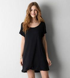 True Black AEO T-Shirt Dress