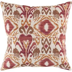 Red and rust ikat pillow from Surya