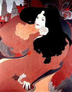 Blog of an Art Admirer: Georges de Feure (1868-1943) French Art Nouveau Painter