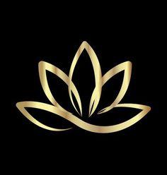 Illustration of Gold lotus yoga logo vector vector art, clipart and stock vectors. Art Lotus, Lotus Kunst, Logo Lotus, Logo Fleur, Yoga Logo, Flower Logo, Logo Design, Graphic Design, Diy Design