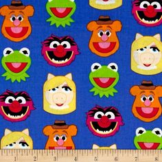 Disney Emojiland Muppets Friends Blue from @fabricdotcom  Designed by Disney and licensed to Springs Creative Products, this cotton print fabric is perfect for quilting, apparel and home decor accents. Colors include black, pink, white, blue and green. Due to licensing restrictions, this item can only be shipped to USA, Puerto Rico, and Canada.