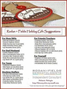 From stocking stuffers to a complete skin care system, RODAN + FIELDS Dermatologists has something for everyone! Stocking Stuffers For Men, Christmas Stocking Stuffers, Holiday Gifts, Christmas Gifts, Christmas Shopping, Xmas, Christmas Blessings, Holiday Deals, Fun Gifts
