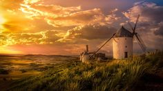 1366x768 HD Widescreen Wallpaper - windmill