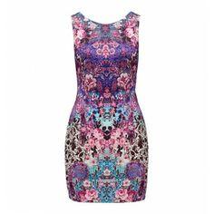 Mia Mirror Printed Scuba Dress - Forever New