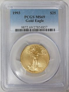 1993 $25 1/2 oz American Gold Eagle PCGS MS69
