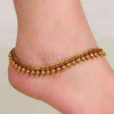 Latest Sonoor Payal Designs 2014 15 Payal Designs For Brides Stylish Jewelry, Modern Jewelry, Fine Jewelry, Fashion Jewelry, Gold Jewelry, Jewelry Shop, Gold Anklet, Silver Anklets, Ankle Jewelry