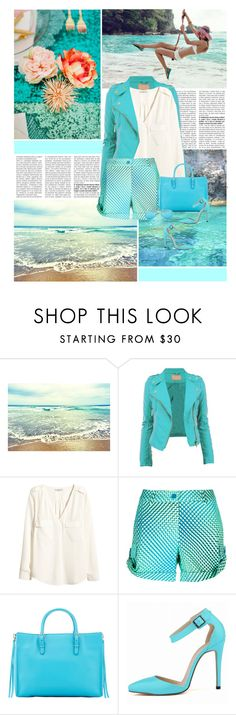 """""""Summer Breeze"""" by finish ❤ liked on Polyvore featuring Evil Twin, H&M, P.A.R.O.S.H., Balenciaga, Posh Girl, Ray-Ban, Summer, beach and cyan"""
