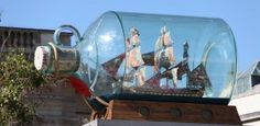 Take a selfie at Yinka Shonibare's sculpture Nelson's Ship in a Bottle, one of London's most popular artworks here at the National Maritime Museum Ship In Bottle, Arts And Crafts Storage, Art Fund, Museum Art Gallery, Maritime Museum, Remembrance Day, Days Out, Video Photography, Public Art