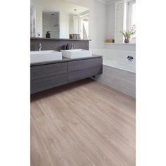 PVC is 100% waterbestendig en daarmee de ideale vloer voor in de badkamer. Weg met die koude, harde tegels! PVC click strook Chicago eiken Alcove, Utah, Bathtub, Chicago, Bathroom, Deco, Standing Bath, Washroom, Bathtubs