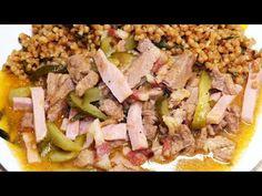 Hentes tokány tarhonyával - YouTube Tuna, Asparagus, Beef, Fish, Vegetables, Youtube, Meat, Veggies, Vegetable Recipes