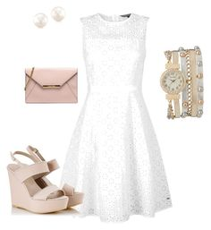 A fashion look from August 2015 featuring white dress, wedge heel sandals and pink clutches. Browse and shop related looks. Shoe Bag, Formal Dresses, Polyvore, Stuff To Buy, Shopping, Collection, Design, Women, Fashion