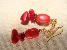 earings with coral  σκουλαρίκια με αυθεντικά κοράλια fotinimamali@yahoo.gr Stud Earrings, Jewelry, Fashion, Moda, Jewlery, Jewerly, Fashion Styles, Stud Earring, Schmuck