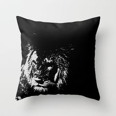 Lion Stencilled Throw Pillow by liberthine01 - $20.00