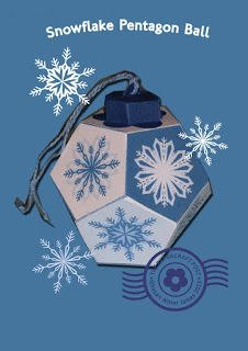 The Papercraft Post: Xmas in July: Snowflake Pentagon Ball  Ornament http://thepapercraftpost.blogspot.co.uk/2015/07/xmas-in-july-snowflake-pentagon-ball.html