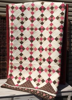 Around the Block Quilt Kit by myreddoordesigns on Etsy, -- but would look great in scrappy!