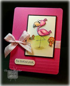 Crafting The Web: Tickled Pink using Copics TR000, YR02, RV23, RV25, RV29, N7, N5, N3