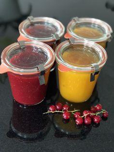 Erdbeere-Johannesbeeren und Mango-Pfirsich Marmelade 😍