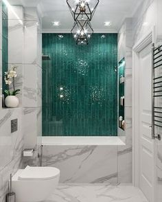 ✔ 65 bathroom design ideas with modern bathup 31 > Fieltro.Net - Bathroom Design - Home Design Dream Bathrooms, Beautiful Bathrooms, Small Bathroom, Bathroom Ideas, Bathroom Green, Bathroom Marble, Marble Tiles, Marble Wall, Wall Tiles