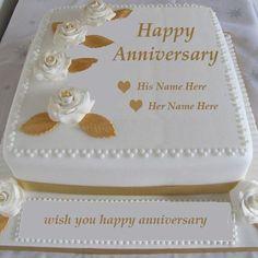 Write Name On Wedding Anniversary Cake Images