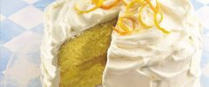 Need a cool citrusy dessert? Make an easy lemon cake using orange juice. You'll love the lemon filling and creamy frosting touched with lemon.