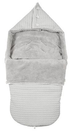 Waffel Buggy-Fußsack \'Oslo\' grau/softgrau 115cm