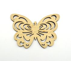 Laser cut wooden butterfliies  4 x 3 by AllThisWood on Etsy