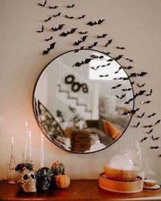 Modern Halloween Decor, Chic Halloween, Spooky Decor, 31 Days Of Halloween, Halloween House, Holidays Halloween, Halloween Crafts, Diy Halloween Decorations Indoor, Halloween