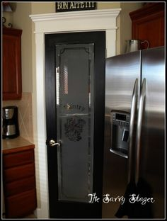 Black pantry door? I have this in white looks so much better in black!