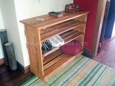 Pallet shoe rack | 1001 Pallets