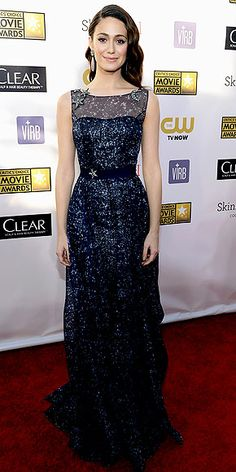 Emmy Rossum - Crictics' Choice Awards - Carolina Herrera gown