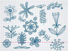 Hand Drawn Flower Doodle Vectors (Free), Clipart - Clipart.me