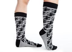 "Threadless Crew Socks ""Hound's Tooth"" by Emmy Cicierega. Repin your favorite pair of the new socks by 11/22 and you'll be entered to win that pair! We'll be giving away 8 pairs of socks to 8 lucky pairs of feet."