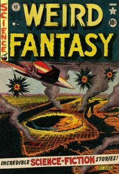 Weird Fantasy Orlando-Wally Wood-Jack Kamen-Al Felds Sci Fi Comics, Fantasy Comics, Horror Comics, Pulp Fiction Book, Horror Fiction, Comic Book Characters, Comic Books, Sci Fi Books, Weird Science